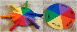 نشاط تعليمى لتمييز الألوان والتطابق للأطفال المصابين بالتوحد